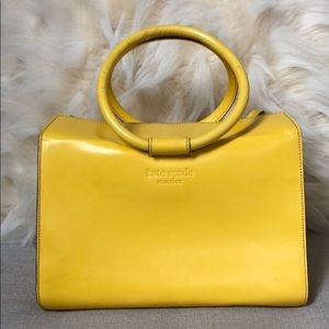 Kate Spade Yellow Leather Handbag